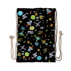 Space Pattern Drawstring Bag (small) by Valentinaart
