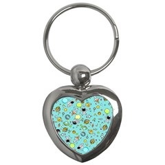 Space Pattern Key Chains (heart)  by Valentinaart