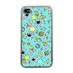 Space Pattern Apple Iphone 4 Case (clear) by Valentinaart