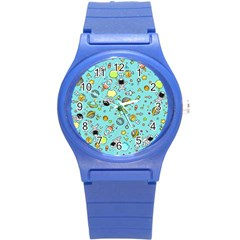 Space Pattern Round Plastic Sport Watch (s) by Valentinaart