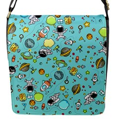Space Pattern Flap Messenger Bag (s) by Valentinaart