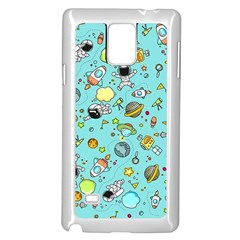 Space Pattern Samsung Galaxy Note 4 Case (white)