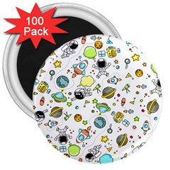 Space Pattern 3  Magnets (100 Pack)