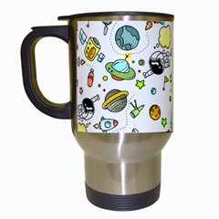 Space Pattern Travel Mugs (white)