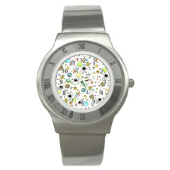 Space Pattern Stainless Steel Watch