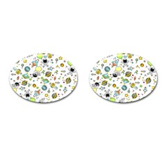 Space Pattern Cufflinks (oval) by Valentinaart