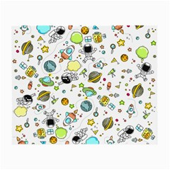 Space Pattern Small Glasses Cloth (2 Side) by Valentinaart