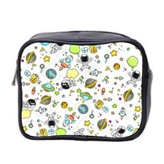 Space Pattern Mini Toiletries Bag 2 Side
