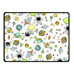 Space Pattern Fleece Blanket (small) by Valentinaart