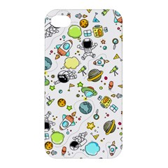 Space Pattern Apple Iphone 4/4s Premium Hardshell Case by Valentinaart