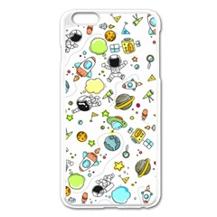 Space Pattern Apple Iphone 6 Plus/6s Plus Enamel White Case