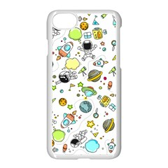 Space Pattern Apple Iphone 8 Seamless Case (white)