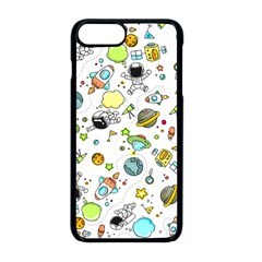 Space Pattern Apple Iphone 8 Plus Seamless Case (black)