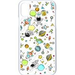 Space Pattern Apple Iphone X Seamless Case (white)