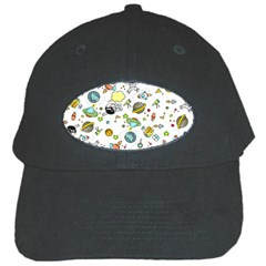 Space Pattern Black Cap