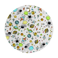 Space Pattern Ornament (round)