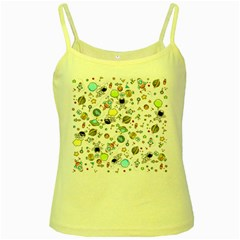 Space Pattern Yellow Spaghetti Tank