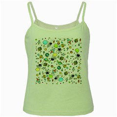 Space Pattern Green Spaghetti Tank