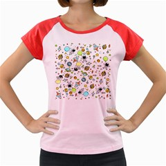 Space Pattern Women s Cap Sleeve T Shirt