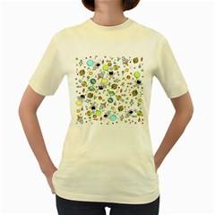 Space Pattern Women s Yellow T Shirt