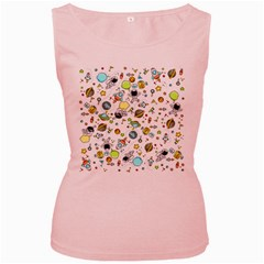 Space Pattern Women s Pink Tank Top
