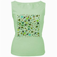 Space Pattern Women s Green Tank Top