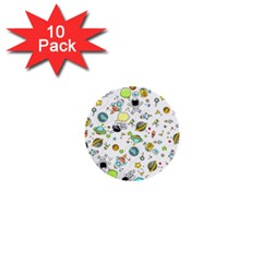 Space Pattern 1  Mini Buttons (10 Pack)
