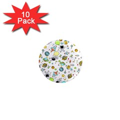 Space Pattern 1  Mini Magnet (10 Pack)
