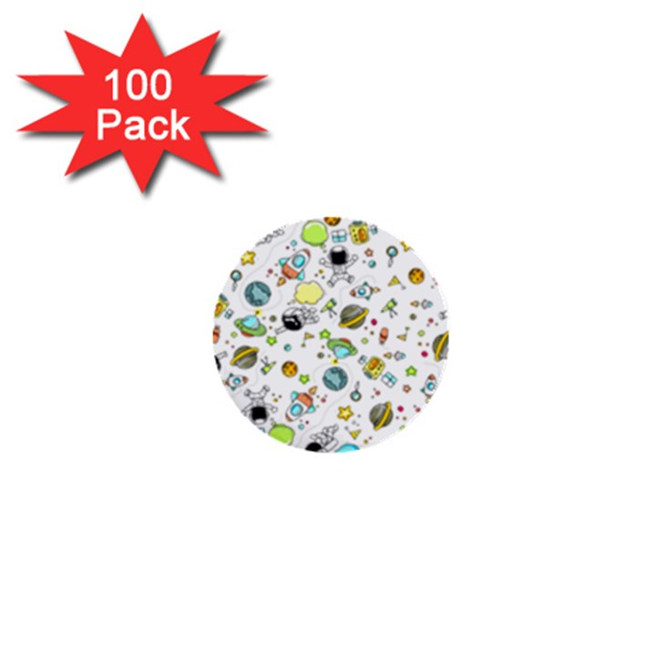 Space Pattern 1  Mini Buttons (100 pack)