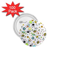 Space Pattern 1 75  Buttons (100 Pack)