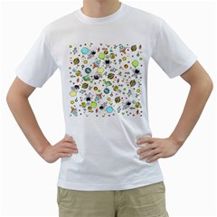 Space Pattern Men s T Shirt (white) (two Sided)