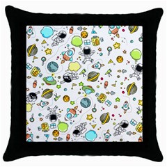 Space Pattern Throw Pillow Case (black)