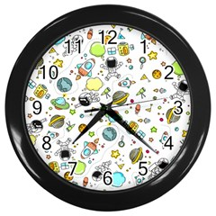 Space Pattern Wall Clocks (black)