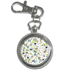 Space Pattern Key Chain Watches