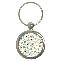 Space Pattern Key Chains (round)