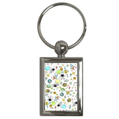 Space Pattern Key Chains (rectangle)