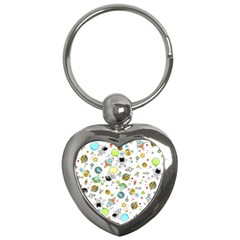 Space Pattern Key Chains (heart)