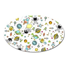 Space Pattern Oval Magnet