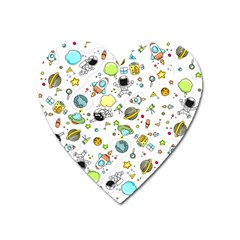 Space Pattern Heart Magnet