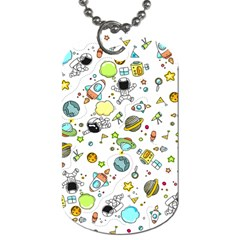 Space Pattern Dog Tag (one Side)