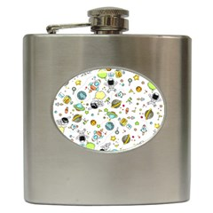 Space Pattern Hip Flask (6 Oz)