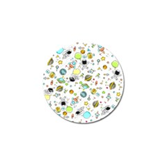Space Pattern Golf Ball Marker (4 Pack)