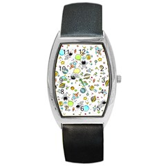 Space Pattern Barrel Style Metal Watch