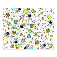 Space Pattern Rectangular Jigsaw Puzzl