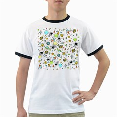 Space Pattern Ringer T Shirts