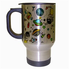 Space Pattern Travel Mug (silver Gray)
