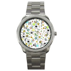 Space Pattern Sport Metal Watch