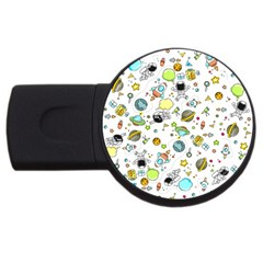 Space Pattern Usb Flash Drive Round (4 Gb)