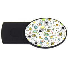 Space Pattern Usb Flash Drive Oval (4 Gb)