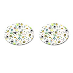 Space Pattern Cufflinks (oval)